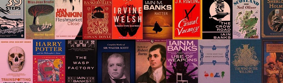 A selection of famous books by Scottish authors.